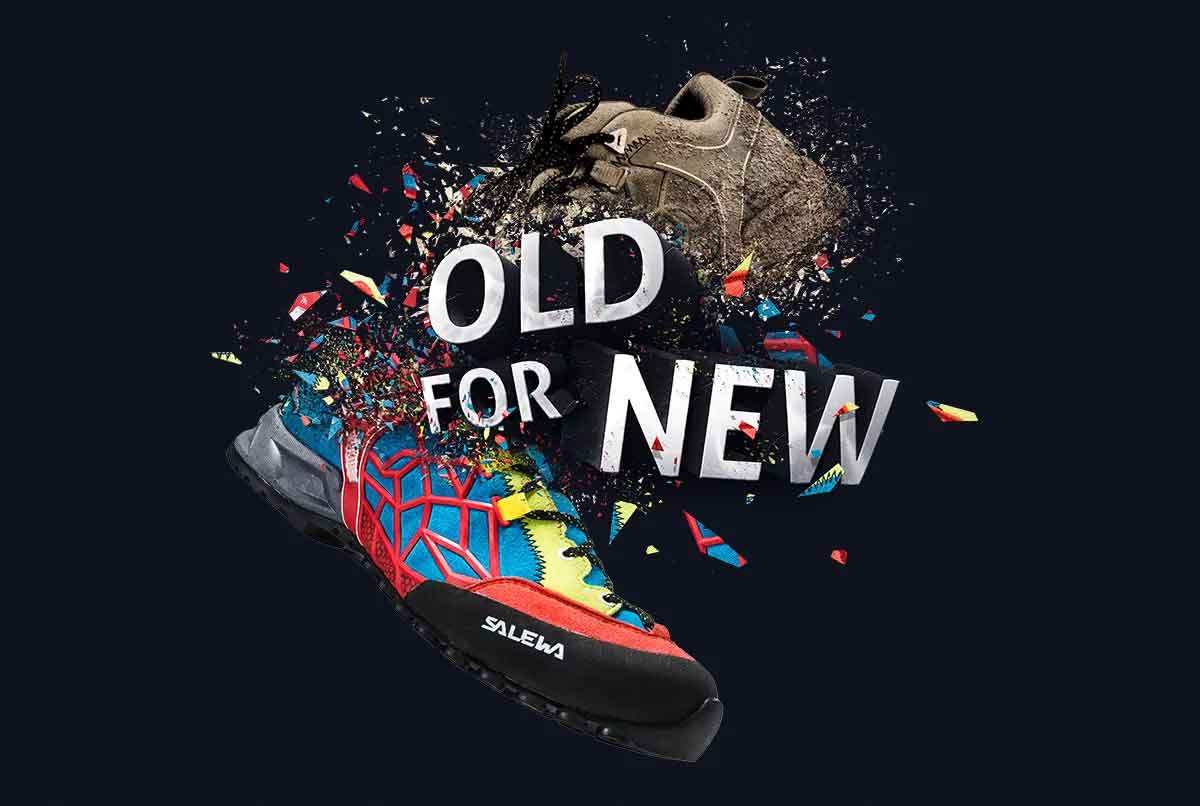 "Salewa ""Old for New"" Campaign Visual"