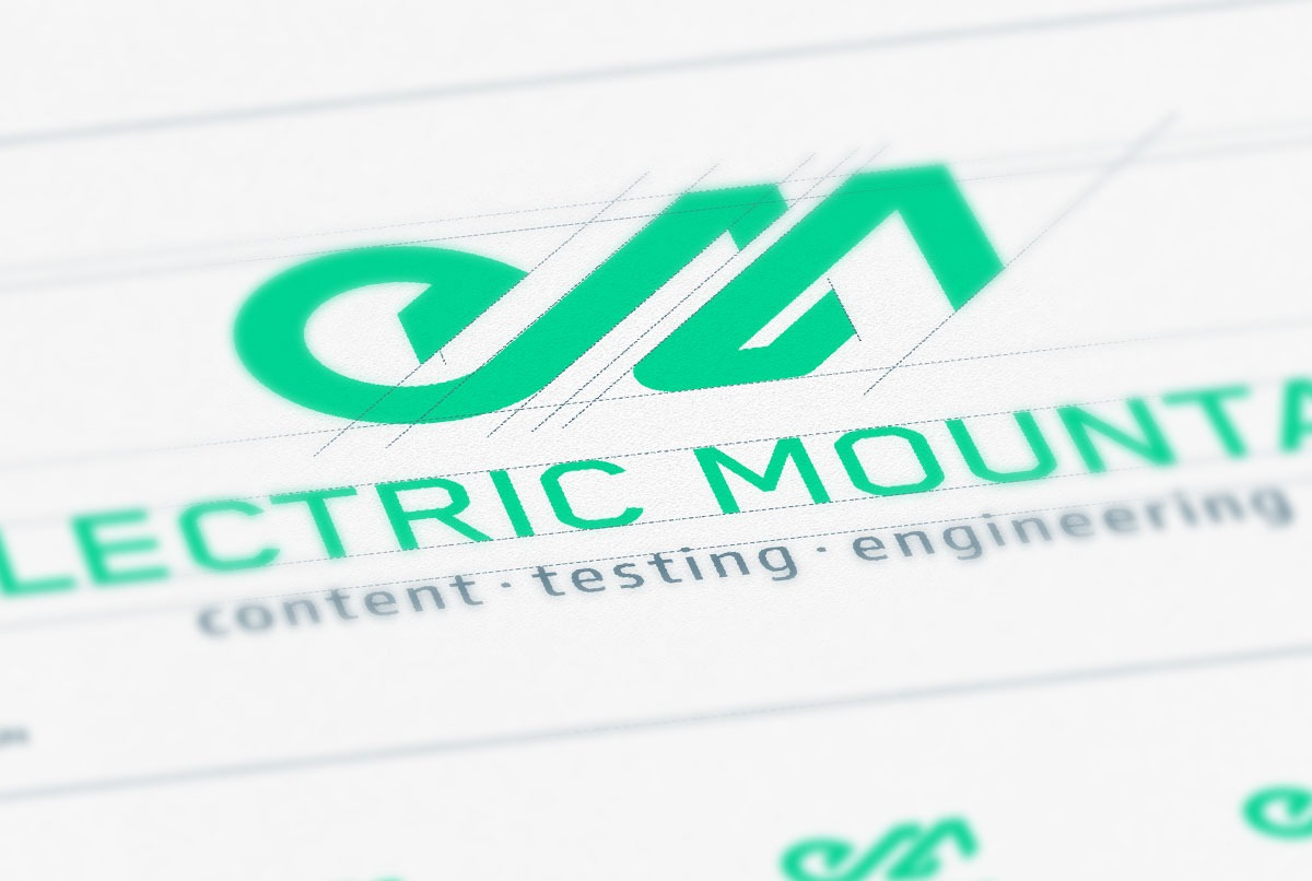 Electric Mountain Logo Design