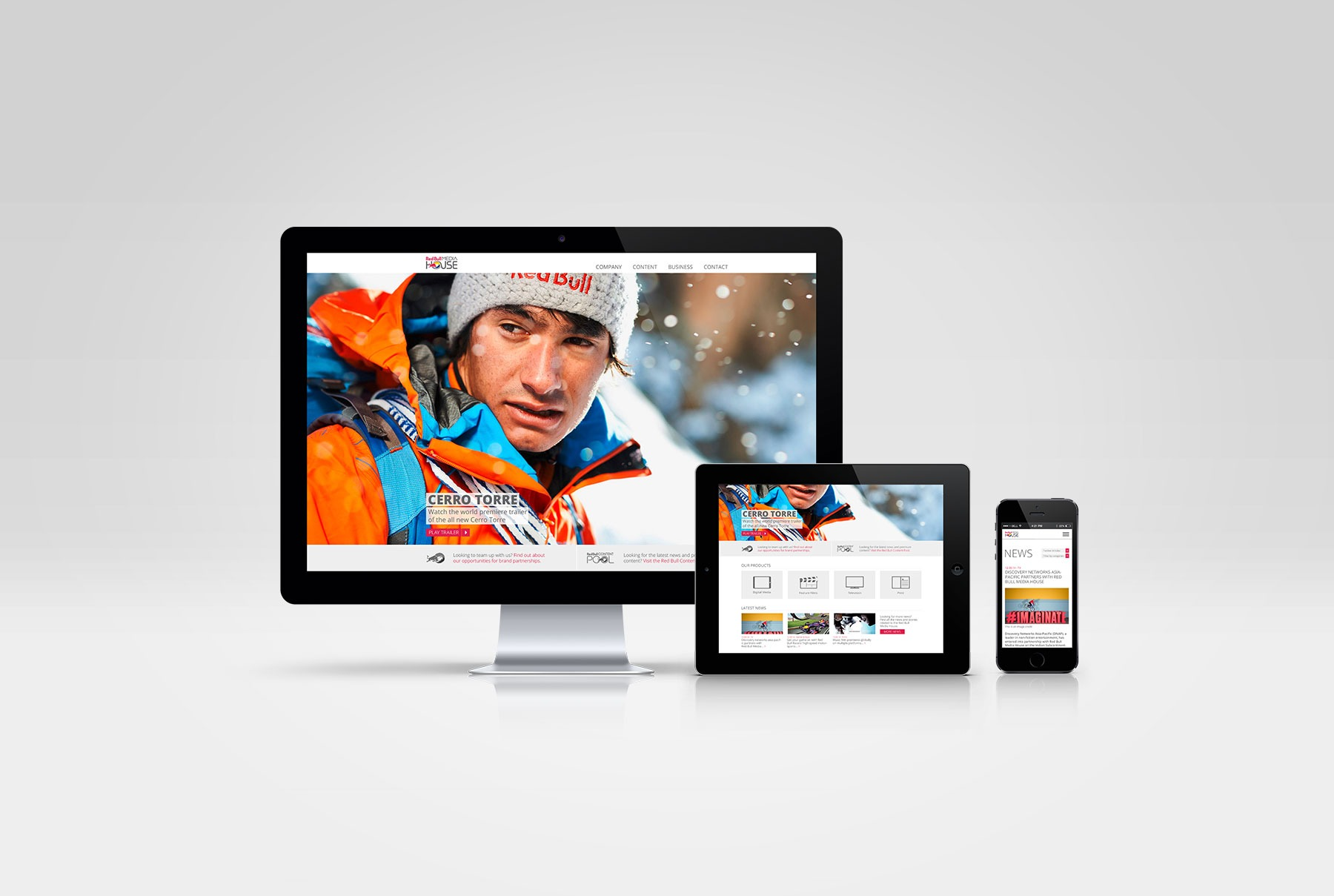 Red Bull Media House Website Redesign